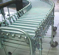 Esteira transportadora de roletes