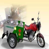 Triciclo Honda para transporte de gás